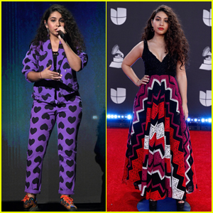 Alessia Cara Wears Heart-Print Suit for Latin Grammys 2019 Performance
