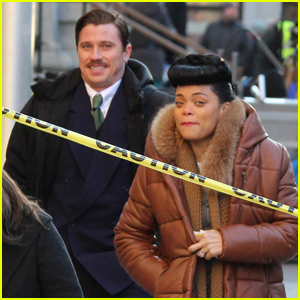 Andra Day & Garrett Hedlund Film 'The United States vs. Billie Holiday' in Montreal