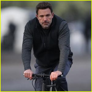 Ben Affleck Rides a Bike Filming 'Deep Water' in New Orleans