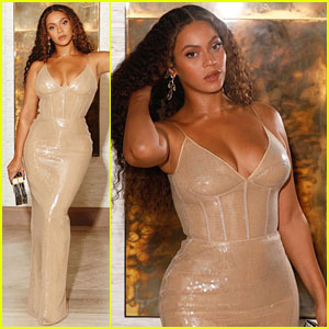 Beyonce Stuns in Sequined Gown & Money Clutch for Shawn Carter Foundation Gala Weekend