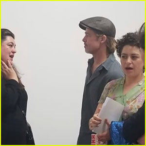 Brad Pitt & Alia Shawkat Check Out the 'LA On Fire' Exhibit