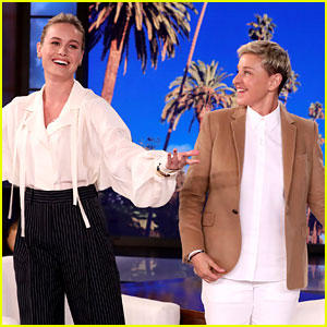 Brie Larson Uses 'Ellen' Interview to Request Free Disney+ Subscription! (Video)