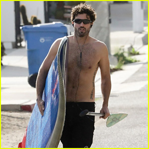 Brody Jenner Hits the Beach Shirtless for a Paddleboard Session in Malibu