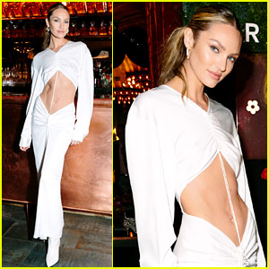 Candice Swanepoel Bares Her Toned Abs in a Chic Outfit