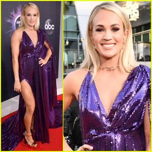 Carrie Underwood Dazzles in Purple at American Music Awards 2019