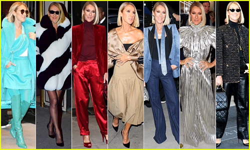 See Seven More of Celine Dion's Outfits from NYC Appearances!