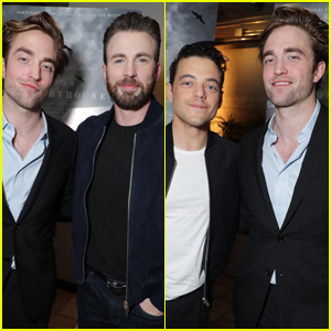 Chris Evans & Rami Malek Host Screening of Robert Pattinson's 'The Lighthouse'
