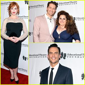 Christina Hendricks, Matthew Morrison & Cheyenne Jackson Step Out for Thespians Go Hollywood Gala!