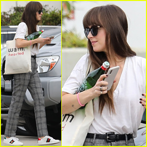 Dakota Johnson Looks Effortlessly Chic for Film Production Company Visit