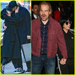 Lily Allen & David Harbour Show Some PDA After Halloween Celebrations
