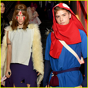 Dylan Sprouse Barbara Palvin Dress As Princess Mononoke Characters For Halloween 2019 Halloween Barbara Palvin Dylan Sprouse Halloween Just Jared
