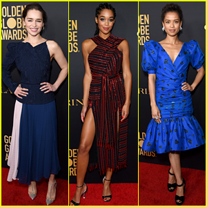 Emilia Clarke, Laura Harrier, Gugu Mbatha-Raw & More Celebrate the Globes with HFPA