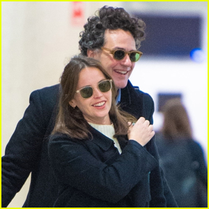 Felicity Jones & Husband Charles Guard Make Rare Public Appearance at JFK Airport!
