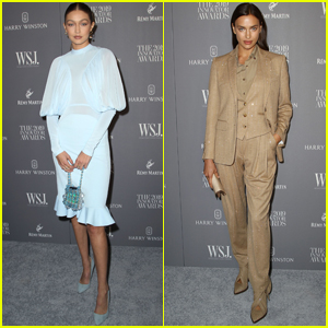 Gigi Hadid & Irina Shayk Arrive in Style for WSJ. Innovators Awards 2019