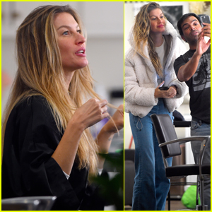 Gisele Bundchen Gets Her Hair Highlighted by Pal Hairstylist Harry Josh!