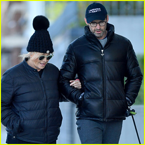 Hugh Jackman & Wife Deborra-Lee Furness Don Matching Outfits While Walking Their Dogs