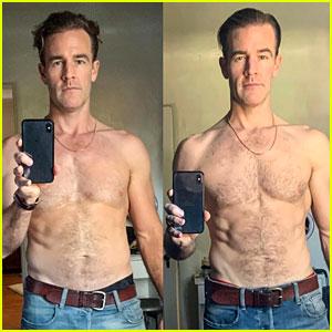 James Van Der Beek Posts Shirtless Selfies to Reveal 'DWTS' Body Transformation!