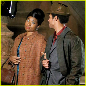 Jennifer Hudson Films Scene for Aretha Franklin Movie with Co-Star Marlon Wayans