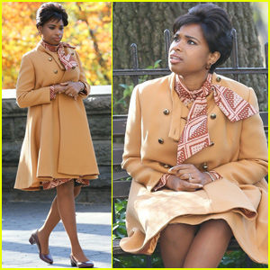 Jennifer Hudson Looks Worried While Filming Aretha Franklin Biopic 'Respect'