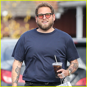 Jonah Hill Rocks Cool Red-Tinted Shades for Brentwood Outing
