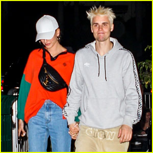 Justin Bieber Shows Off New Blond Hair at Dinner with Hailey