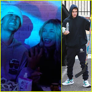 Justin & Hailey Bieber Stop By Black Star Burger LA's Grand Opening
