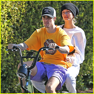 Justin & Hailey Bieber Go For Bike Ride Before Hitting Up Dance Studio