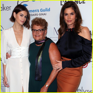 Kaia Gerber Joins Mom Cindy Crawford & Grandma Jennifer at Women's Guild Cedars-Sinai Luncheon