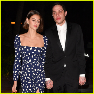 Kaia Gerber & Pete Davidson Hold Hands Heading to Friend's Wedding in Miami!