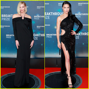 Karlie Kloss & Adriana Lima Go Glam for Breakthrough Prize 2019