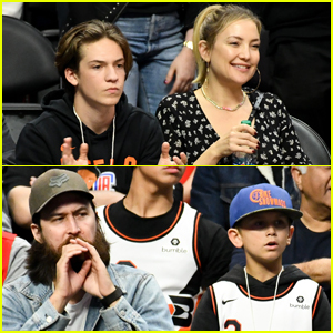 Kate Hudson & Danny Fujikawa Bring Her Sons Ryder & Bingham to Clippers Game!