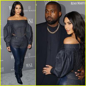 Kim Kardashian & Kanye West Honor Burberry Designer Riccardo Tisci at WSJ. Innovators Awards 2019