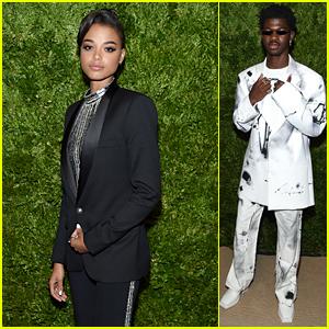 Charlie's Angels Star Ella Balinska Shines at CFDA Vogue Fashion Fun Awards With Lil Nas X