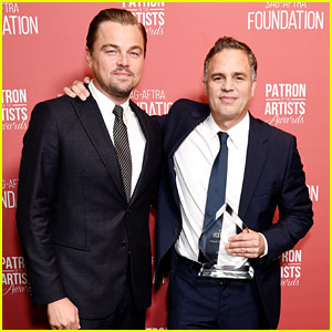 Leonardo DiCaprio Honors His Friend Mark Ruffalo at Patron of the Artists Awards!