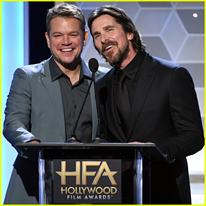 Matt Damon & Christian Bale Honor 'Ford v Ferrari' Director at Hollywood Film Awards 2019