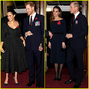 meghan markle kate middleton princes harry william reunite alongside royal family for remembrance day camilla bowles kate middleton meghan markle prince charles prince harry prince william princess anne queen just jared