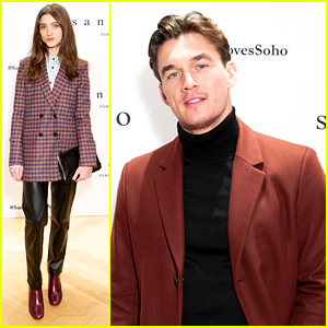 Tyler Cameron Joins Host Natalia Dyer For Sandro's Special Fashion Event