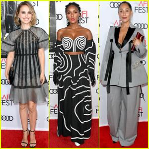 Natalie Portman, Janelle Monae, & Tracee Ellis Ross Attend 'Queen & Slim' Premiere