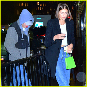 Pete Davidson & Kaia Gerber Head to Dinner & Concert in NYC