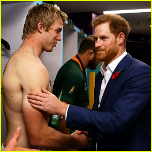 Prince Harry Visits the Players at Rugby World Cup in Japan!
