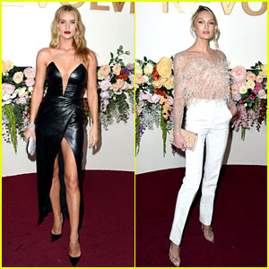 Rosie Huntington-Whiteley, Candice Swanepoel, & More Are Honored at the Revolve Awards!