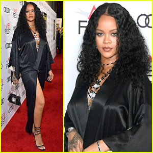 Rihanna Goes Sexy in Silk for 'Queen & Slim' Premiere