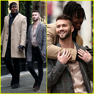 NFL Player Ryan Russell Flaunts PDA with Boyfriend Corey O'Brien in London!