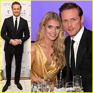Sam Heughan Hangs Out with Princess Diana's Niece at Awards Show in London