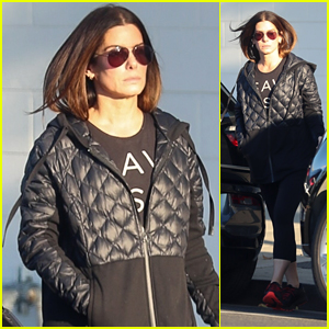 Sandra Bullock Makes a Rare Public Outing to the Hair Salon After Netflix Casting Announcement