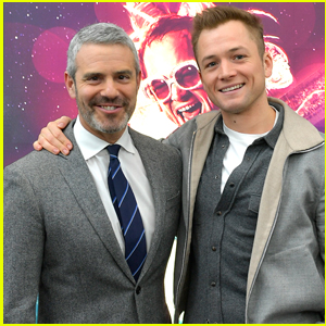 Taron Egerton Attends 'Rocketman' Screening with Andy Cohen