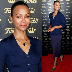Zoe Saldana Attends the Grand Opening of the Funko Hollywood Store!