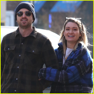 Aaron Paul is All Smiles During Day Out with Wife Lauren