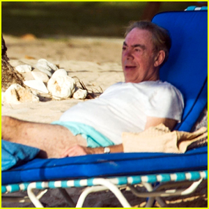 Andrew Lloyd Webber Relaxes on the Beach on 'Cats' Opening Day
