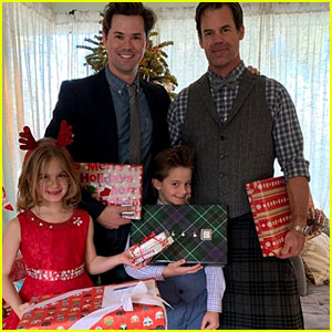 Andrew Rannells & Boyfriend Tuc Watkins Celebrate Christmas Together!